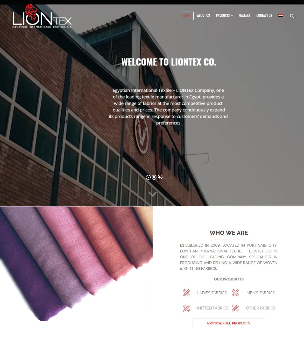 Our New website - LIONTEX CO